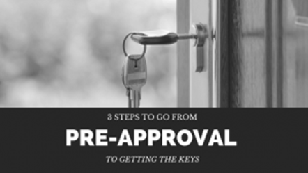 The 3 Steps that take you from Pre-Approval to Your New Home