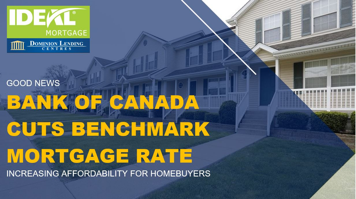 Bank of Canada Cuts Benchmark Mortgage Rate